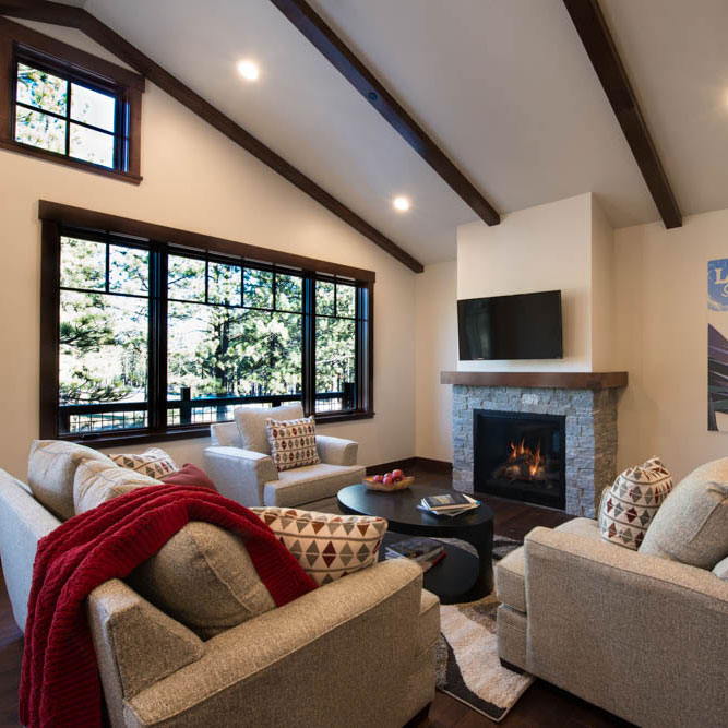 Lake Tahoe Cabin Interior | Fire Place